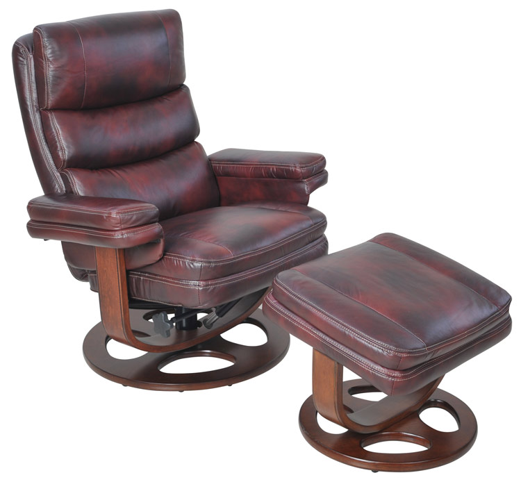 sc 1 st  Discount Leather Chairs & BarcaLounger 8023 Bella II Leather Swivel Recliner and Ottoman Set islam-shia.org