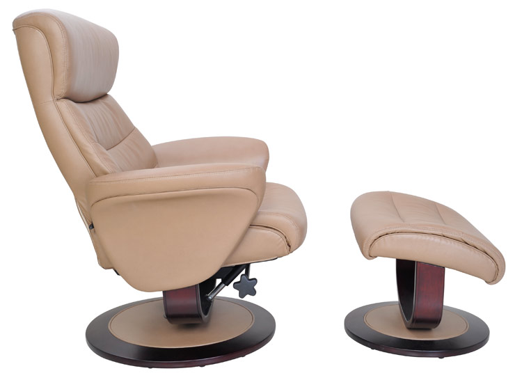Barcalounger 8018 Tetra Ii Leather Swivel Recliner And