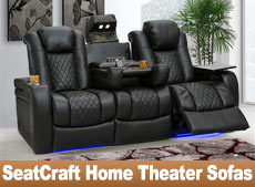 Seatcraft Home Theater Sofas