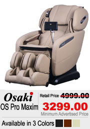 Osaki OS Maxim Shiatsu Massage Chair
