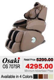 Osaki OS 7075R Shiatsu Massage Chair