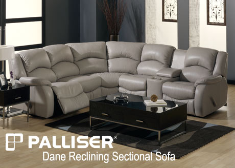 The Palliser Reclining Sectionals Sofa Sets are custom made to order so you get to choose from over 100 leather and microfiber colors and a limitless number ... : palliser leather sectional - Sectionals, Sofas & Couches