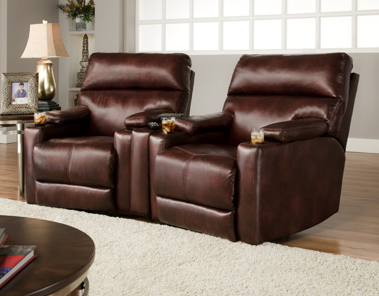 southern motion tangier reclining home theater sets in leather or microfiber