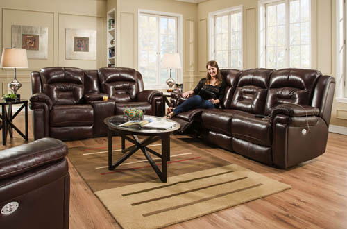 southern motion 843p avatar reclining sofas and loveseats in leather or microfiber