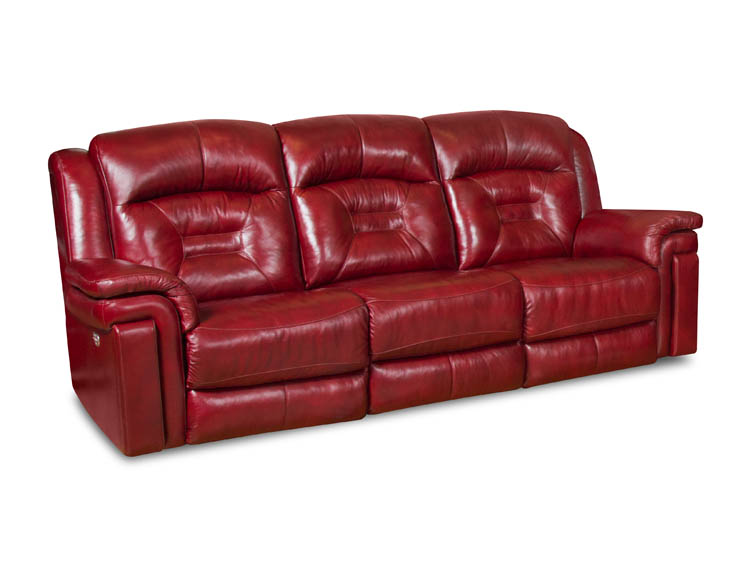 American Made Avalene Leather Sofa Set New Power