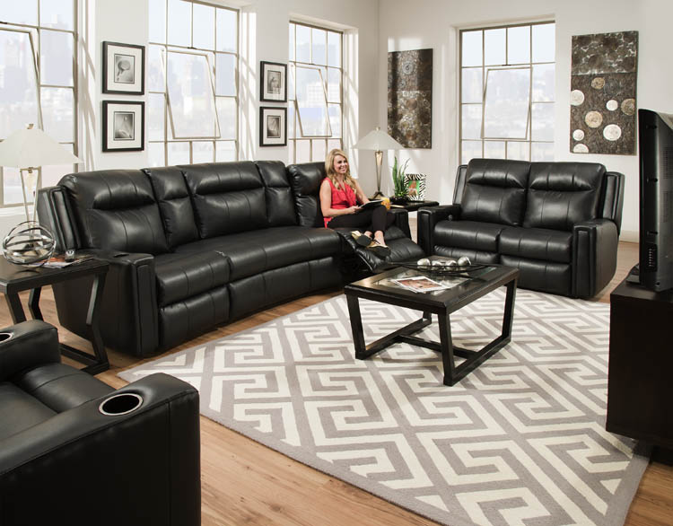 Southern Motion 850P Curve Reclining Sofas and Loveseats