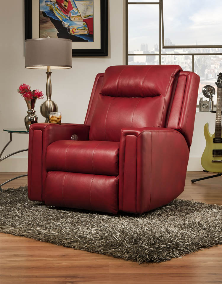 American Made 858p Curvature Recliner In Leather Or Microfiber