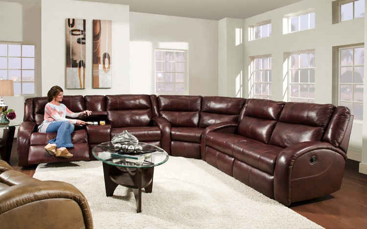 American Made Merritt Lay Flat Reclining Sectional Sofa