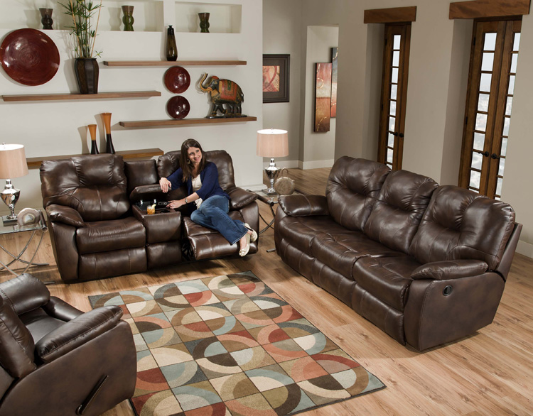 American Made 838 Avalon Reclining Sofa Sectional In