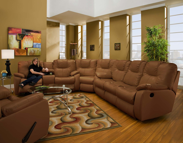 American Made 838 Avalon Reclining Sofa Sectional in Leather or ...